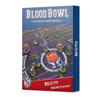 Blood Bowl Dark Elf Team Pitch and Dugouts