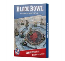 Blood Bowl Shambling Undead Team Pitch and Dugouts