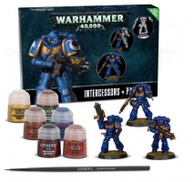 Space Marines Intercessors & Paint Set