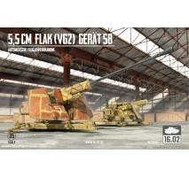 16.02 35001 - 1:35 5,5cm Flak (VG) Gerat 58