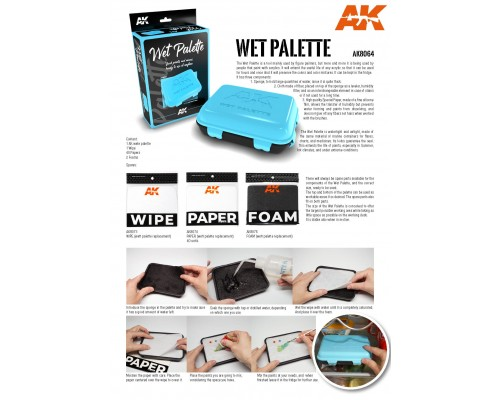 AK8073 WET PALETTE - WIPE (replacement)
