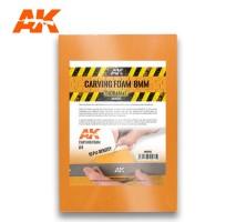 AK 8095 - CARVING FOAM 8MM A4 SIZE