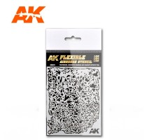 AK 9079 - FLEXIBLE AIRBRUSH STENCIL 1/20 1/24 1/35