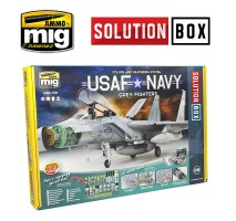 A.MIG-7709 - USAF NAVY GREY FIGHTERS SOLUTION BOX