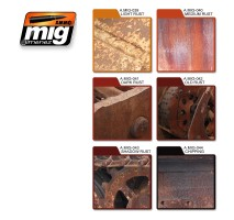A.MIG-7106 - RUST EFFECTS COLORS