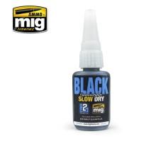 A.MIG-8034 - BLACK SLOW DRY CYANOACRYLATE