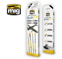 A.MIG-7605 - PANEL LINES AND FADING BRUSH SET
