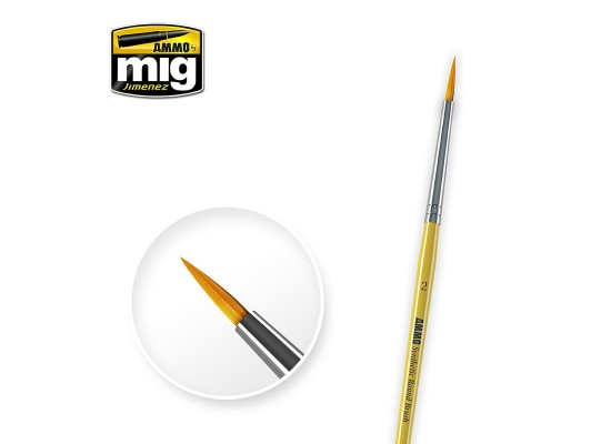 A.MIG-8614 - Synthetic Round Brush Size 2
