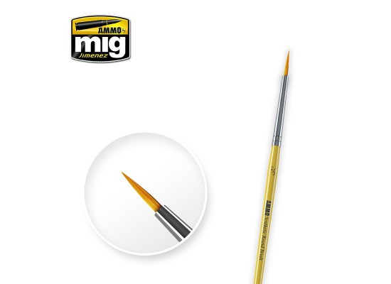 A.MIG-8612 - Synthetic Round Brush Size 2/0