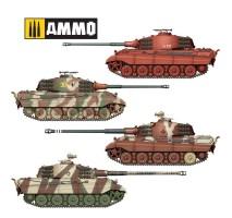 A.MIG-8500 - King Tiger Henschel 2 in 1 1:35