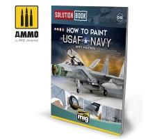A.MIG-6509 - USAF NAVY GREY FIGHTERS SOLUTION BOOK - MULTILINGUAL BOOK
