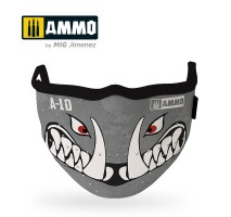 """A.MIG-8065 - AMMO FACE MASK """"A10 Warthog"""" (Hygienic protective mask 100% polyester)"""