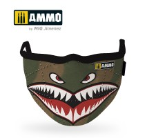 """A.MIG-8066 - AMMO FACE MASK """"Shark"""" (Hygienic protective mask 100% polyester)"""