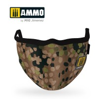 """A.MIG-8067 - AMMO FACE MASK """"Erbsenmuster"""" (Hygienic protective mask 100% polyester)"""