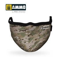 """A.MIG-8068 - AMMO FACE MASK """"Multicam"""" (Hygienic protective mask 100% polyester)"""