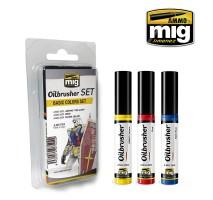 A.MIG-7504 - OILBRUSHER BASIC COLORS SET