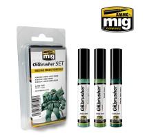 A.MIG-7509 - OILBRUSHER MECHAS GREEN TONES SET