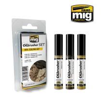 A.MIG-7511 - OILBRUSHER SOIL COLORS SET