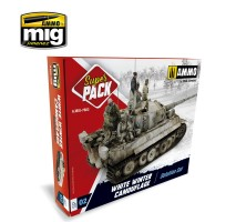 A.MIG-7803 - WHITE WINTER CAMOUFLAGE WEATHERING SUPER PACK