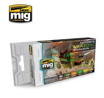 A.MIG-7154 - FUTURISTIC WARZONE SCENARIOS COLOR SET