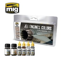 A.MIG-7445 - JET ENGINES COLORS AND WEATHERING SET