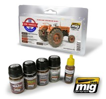 A.MIG-7145 - CIVIL VEHICLES WEATHERING SET