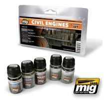 A.MIG-7146 - CIVIL ENGINES WEATHERING SET