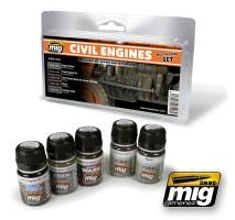 A.MIG-7146 - CIVIL ENGINES WEATHERING SET