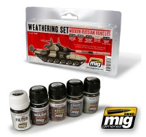 A.MIG-7147 - MODERN RUSSIAN VEHICLES WEATHERING SET