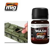 A.MIG-1005 - DARK BROWN WASH FOR GREEN VEHICLES