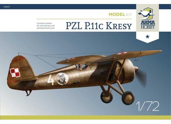 """ARMA HOBBY AH70017 - 1:72 PZL P.11c """"Kresy"""" Model Kit"""