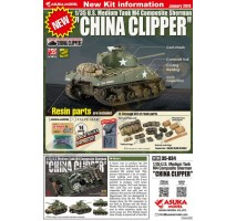 "ASUKA - U.S. Medium Tank M4 Sherman ""CHINA CLIPPER"" 1:35"
