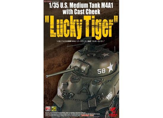 "ASUKA - U.S. Medium Tank M4A1 with Cast Cheek ""Lucky Tiger"" 1:35"