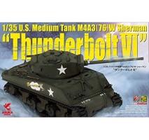 "ASUKA - Macheta tanc american Sherman M4A3 (76) W ""Thunderbolt VI"" 1:35"