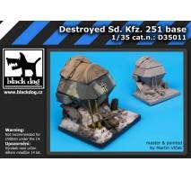 Black Dog - Baza figurina – SdKfz 251 distrus 1:35