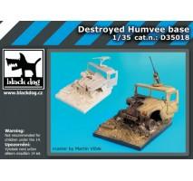 Black Dog - Baza figurina – Humvee distrus 1:35
