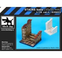 Black Dog - Baza figurina – scari (55x55 mm) 1:35