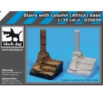 Black Dog - Baza figurina – scari cu columna 1:35