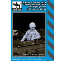 Black Dog - Soldier in Crimea N°3 Gaz Tiger gunner 1:35
