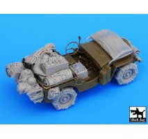 Black Dog - US Jeep big accessories set 1:35