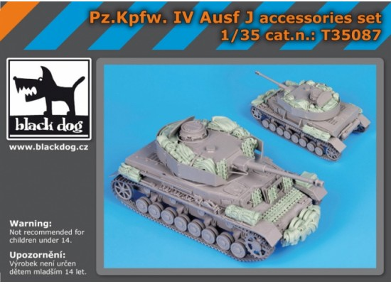 Black Dog - Pz Kpfw IV Ausf J accessories set 1:35
