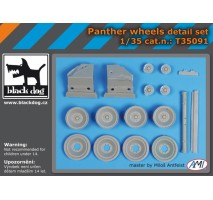 Black Dog - Panther wheels detail set 1:35