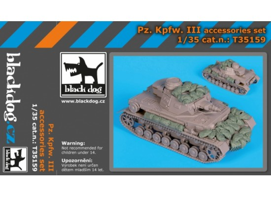 Black Dog - Pz.Kpfw. III accessories set 1:35