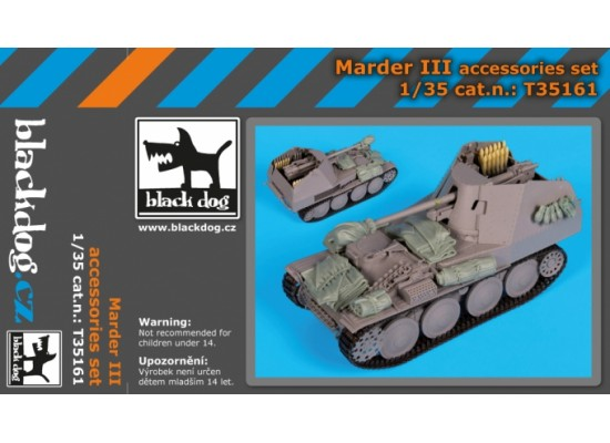 Black Dog - Marder III accessories set 1:35