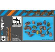 Black Dog - Civilian backpacks accessories set 1:35