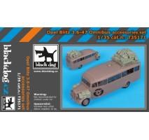 Black Dog - Opel Blitz 3.6-47 Omnibus accessories set 1:35