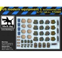 Black Dog - Set accesorii 1 – echipament american modern 1:72