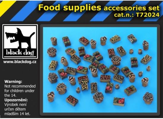 Black Dog - Food supplies accessories set 1:72