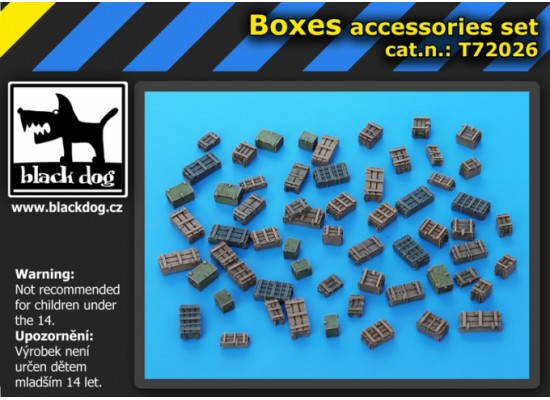 Black Dog - Boxes accessories set 1:72