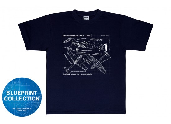 Blueprint Collection - Tricou Messerschitt Bf-109 E3